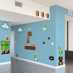 ThinkGeek :: Nintendo Super Mario Bros. Wall Graphics