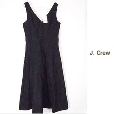 J. CREW BAMBOO CUTOUT DRESS ~ NWOT J. CREW BLACK BAMBOO CUTOUT A-LINE DRESS ~ Lined ~ 100% Cotton ~ Cruiseworthy ~ New Never Worn ~ Hidden back zipper ~ #1889  Trades or Holds ✅ Use offer option ❤️ Bundles J. Crew Dresses