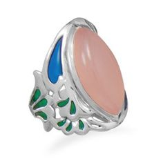 Ornate Pink Chalcedony Ring @ Salerno's Jewelry Store!