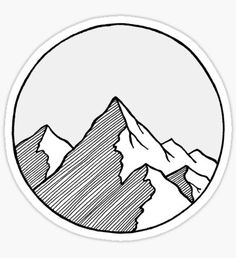 Mountains Sketch Sticker Drawing Tips mountain drawing Sketchbook Drawings, Realistic Drawings, Doodle Drawings, Art Drawings Sketches, Doodle Art, Cute Drawings, Cool Little Drawings, Simple Tumblr Drawings, Easy Nature Drawings