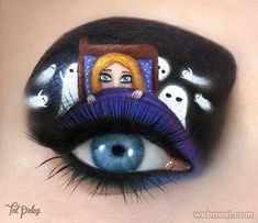 arte fantasmas olho maquiagem