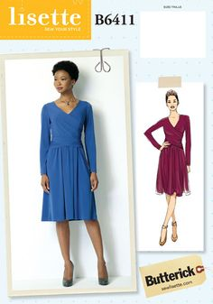 lisette for butterick B6411 sewing pattern. want this pattern in future. Love that its knit