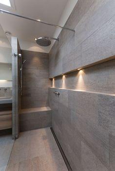 Nisjes in de badkamer / ascetyczna łazienka Wyjątowe projekty wnętrz - odwiedź www.loftstudio.pl