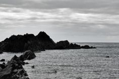 Another image photographed among the rock pools of Tunnels Beach, Ilfracombe, North Devon, this turns the camera out towards the sea, using
