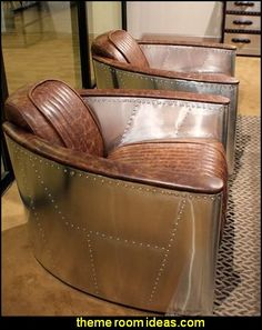 W Club arm Chair aviator Top Grain Leather vintage brown Aircraft style SALE in Home & Garden, Furniture, Chairs Art Deco Furniture, Furniture Logo, Leather Furniture, Metal Furniture, Unique Furniture, Industrial Furniture, Vintage Furniture, Furniture Design, Furniture Chairs