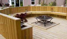 aberdeen dundee decking Timber Deck, Dundee, Decking, Fire, Cabin, Aberdeen, Outdoor Decor, Garden, Home Decor