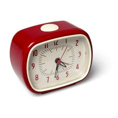 Retro alarm clock - red Rex Teen Children- A large selection of Design on Smallable, the Family Concept Store - More than 600 brands. Alarm Clock Design, Retro Alarm Clock, Alarm Clocks, Mirror Panel Wall, La Petite Boutique, Bedside Clock, Mirrored Wallpaper, Mad About The House, Shops