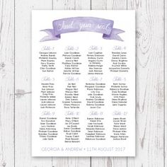 Bright Watercolour Spots Wedding Seating Chart Colourful And Fun