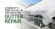 When Do You Need Gutter Repair? 4 Signs Its Time to Call in the Pros
