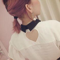 Pastel Heart Cut Blouse