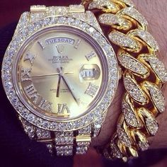 Rolex Diamond and Yellow Gold Jewelry Watch