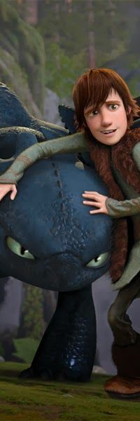 """Toothless is like, """"Me kill!"""" And Hiccup looks so guilty!"""