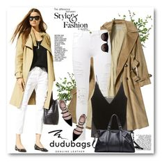 """dudubags"" by svijetlana ❤ liked on Polyvore featuring moda, Diane James, Frame Denim, J Brand, DUDU, Zara, Too Faced Cosmetics, Ray-Ban, Leather e dudubags"