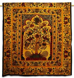 Handicrunch Indian Wall Opknoping Tapestry Cotton Tree Of Life Geel Bohemian Wandtapijten 92 Handicrunch http://www.amazon.de/dp/B00TKACGNK/ref=cm_sw_r_pi_dp_AOw9vb0MQ3KD9