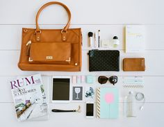 Take a peek inside Kristina Karlsson's (kikki.K founder & stationery lover) Åland Shoulder Bag and discover her everyday essentials for an organised life. What In My Bag, What's In Your Bag, Ec 3, Inside My Bag, Me Bag, What's In My Purse, Purse Essentials, Bag Display, Everyday Bag