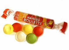 Rouleau de bonbons gélifiés - Haribo - Goût Fruits. Hahahaa omg I so remember these! Not very fondly though...