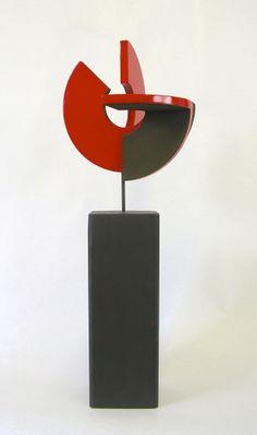 "RAMON URBÁN, ""Secreto artificio XXI"" Técnica mixta madera/hierro, 54x20 cm."