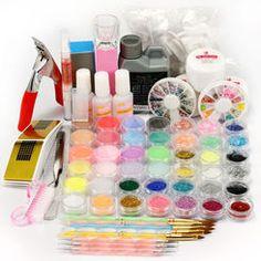 Massive gel nail and nail art combo kit from missliplash.net Nail Kits, Gel Nail Kit, Gel Nails, Nail Tech, Lamps, Art, Gel Nail, Lightbulbs, Art Background