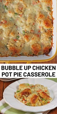 Bubble Up Chicken Pot Pie Casserole Bubble Up Chicken Pot Pie Casserole,Chicken Recipes Bubble up is back! Since my Bubble Up Enchilada and Bubble Up Pizza Casseroles are two of my most popular recipes,. Chicken Pot Pie Casserole, Casserole Dishes, Casserole Recipes, Bubble Up Pizza, Bubble Up Enchiladas, Healthy Chicken Recipes, Cooking Recipes, Ww Recipes, Chicken