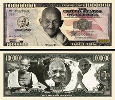 Mahatma Gandhi - Civil Rights Leader Million Dollar Novelty Money