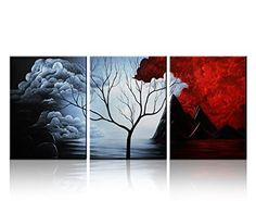 Santin Art- the Cloud Tree-Modern Abstract Painting High Q. Wall Decor Landscape Paintings on Canvas 12x16inch 3pcs/set Stretched and Framed Ready to Hang, http://www.amazon.com/dp/B00A6O719S/ref=cm_sw_r_pi_awdm_0i0NvbHR8DWRG
