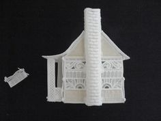 FSL Christmas Village Cottage & Bench - Embroidery Online Embroidery Online, Machine Embroidery, Bench, Tower, Cottage, Building, Christmas, Xmas, Rook