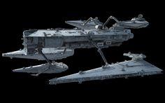 Contentor-class Fleet Replenishment Ship, Ansel Hsiao on ArtStation at https://www.artstation.com/artwork/YzELV