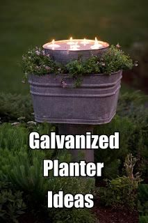 12 Creative Galvanized Metal Planter Ideas