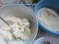 Nutellás kókuszgolyó recept lépés 1 foto Nutella, Icing, Ice Cream, Desserts, Food, Candy, No Churn Ice Cream, Tailgate Desserts, Deserts