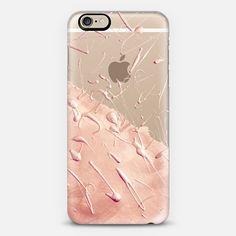 Pastel Rose Gold Rain (transparent) - Classic Snap Case