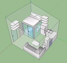 Tyni House, Tiny House Living, House Rooms, Compact House, Micro House, Home Room Design, Small House Design, Casa Loft, Tiny House Community