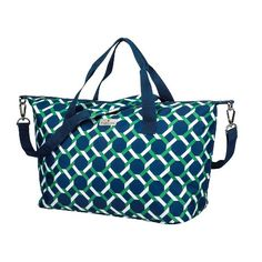 Happy Chic by Jonathan Adler Weekender Tote - Green/Navy, Lattice