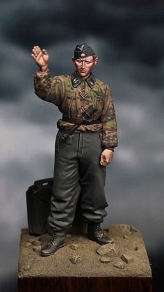 II Guerra mundial - Tripulante de carro de combate (WWII - SS Panzer Recon Crew)