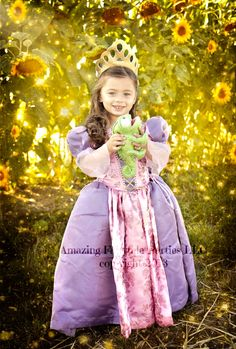 Rapunzel Princess Dress Costume Christmas Dress Up, Birthday Gifts, Holiday Gift & perfect for any occasion and adorable for Toddlers Too $74.00