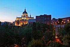 Madrid. La Almudena desde Las Vistillas