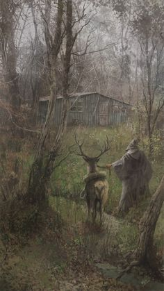 """La Cabaña del Bosque"" , carlos palma cruchaga on ArtStation at https://www.artstation.com/artwork/bbWxn"