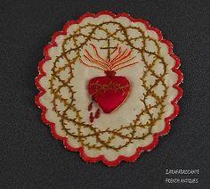 Vintage Pocket Shrine Leather Case Scapular-Agnus Dei-Sacred Heart WW2 Navy | Beautiful Family ...