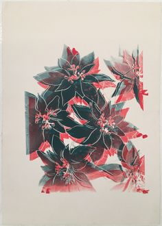 ANDY WARHOL - POINSETTIAS - ROBERT FONTAINE GALLERY http://www.widewalls.ch/artwork/andy-warhol/poinsettias/ #print