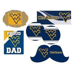West Virginia Mountaineers Proud Dad 6-Piece Decal Set, Multicolor