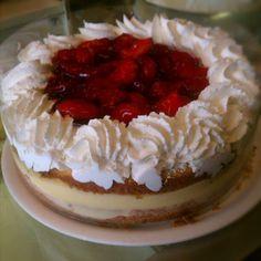 Strawberry Boston Cream Cake