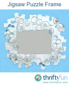 This is a guide about crafts using jigsaw puzzles. You can reuse puzzle pieces to create many fun crafts.