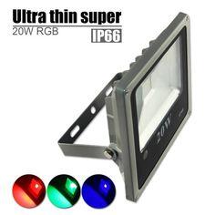 20W Ultra thin High quality RGB Waterproof IP66 LED FloodLight with US 3-Plug