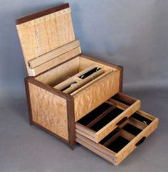 quilted maple hand made jewelry box