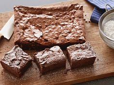 Amaretto Chocolate Brownies with Walnuts recipe from Tyler Florence via Food Network