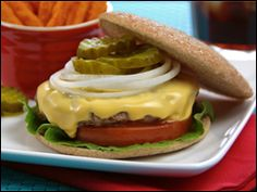 You want a giant cheeseburger for under 300 calories. Hungry Girl's got you covered. My latest 'n greatest is here!!! Mmmmmmmmm....