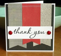Leigh Penner nice and simple homemade card