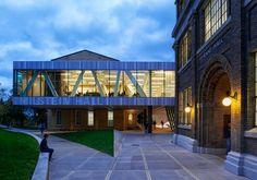 * Architecture: Milstein Hall at Cornell University by OMA Cantilever Architecture, Oma Architecture, Sustainable Architecture, Amazing Architecture, Best Architecture Schools, San Francisco Design, Rem Koolhaas, Cornell University, Amazing Buildings