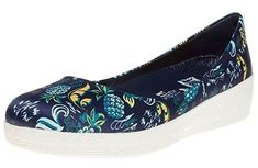 #FitFlop Fitness Schuhe - Anna Sui Latticed Ballerinas, blau. Ballerinas, Clogs, Fitflop, Anna Sui, Slip On, Sneakers, Fitness, Fashion, New Shoes