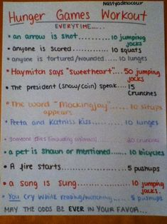 Hunger Games Workout just in case your name gets drawn out of a fishbowl.
