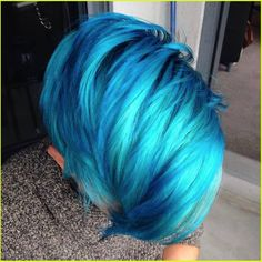 *Bolt From the Blue* Living for the electric teal and aqua hues of this Blue Raspberry Slurpee makeover by Blanche Macdonald Pro Hair graduate Victoria Jazic!